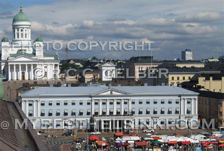 Helsinki Market Square, City Hall, Dome. ALL photos and images © R.C.  Gelber 1999  -