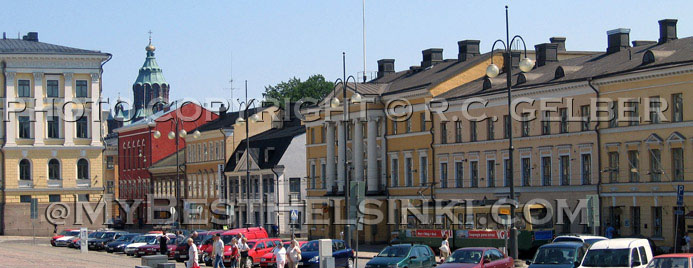 Buildings along Aleksanterinkatu, Helsinki. All photos © RC Gelber.  All rights reserved