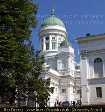 Side view of the Dome in Helsinki.