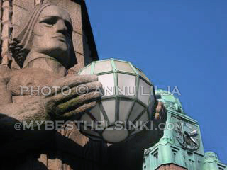 Detail of Helsinki Railway station. Photo © Annu Lilja 2008 -