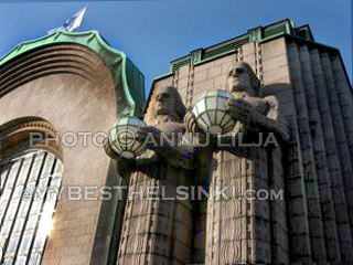 Helsinki Railway Station detail. Architect Eliel Saarinen. Photo © Annu Lilja 2008 -