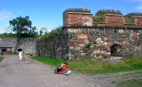 SUOMENLINNA is not just a historic monument,  it is also a neighborhood where people live.