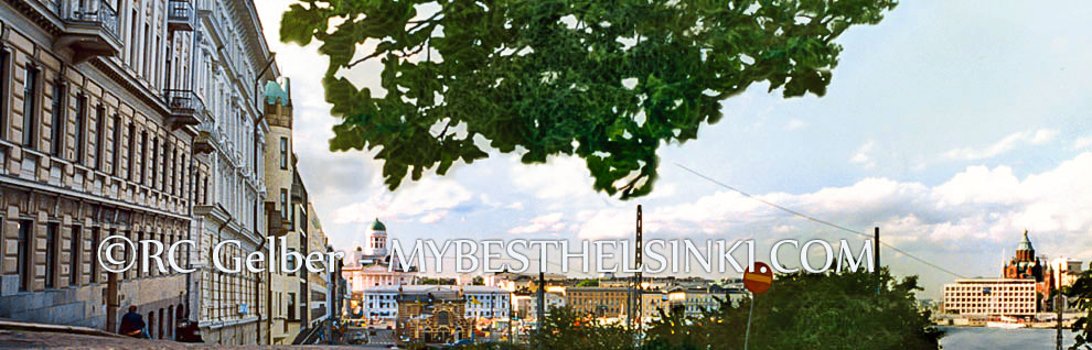 View towrd Helsinki South Harbor, Market Square, Dome, Uspenski Cathedral, etc. Photo & pop-up photo © RC Candolin-Gelber 1999, 2000-2008, 2009 -