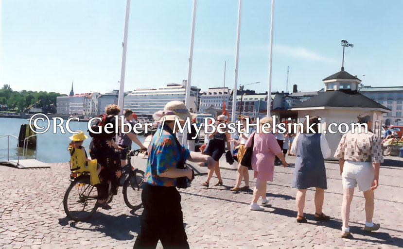 Summer day at Helsinki's Market Square. Photo © RC Gelber