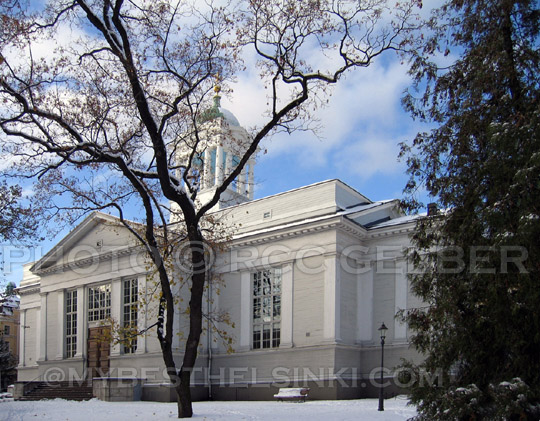 The Old Church, Helsinki, winter. - All photos © RC Gelber. All Rights Reserved.