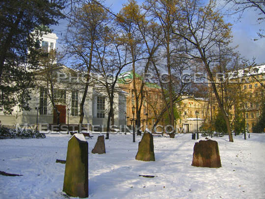 The Old church Park, winter, Helsinki. Photo & pop-up photo © R.C.Gelber. All Rights Reserved.