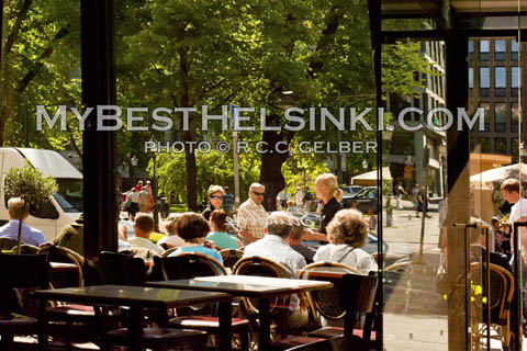 Cafe Strindberg Patio, Helsinki.